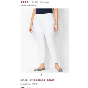 Like New Chico's White So Slimming Pants Size 3